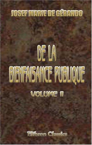 Download De la Bienfaisance publique