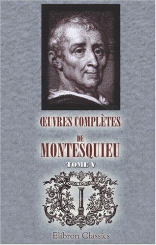 uvres complètes de Montesquieu