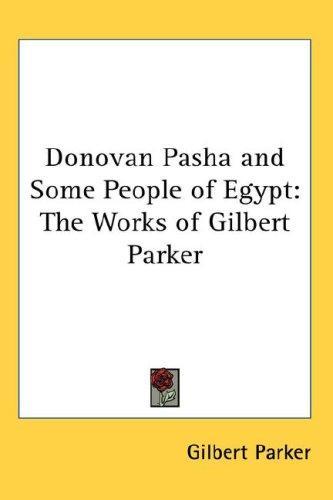 Donovan Pasha and Some People of Egypt