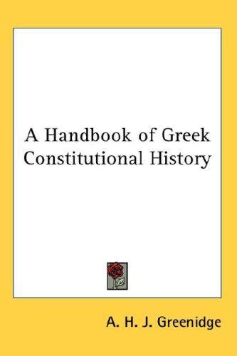 A Handbook of Greek Constitutional History