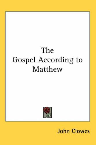 Download The Gospel According to Matthew
