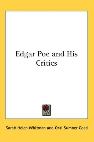Download Edgar Poe and His Critics