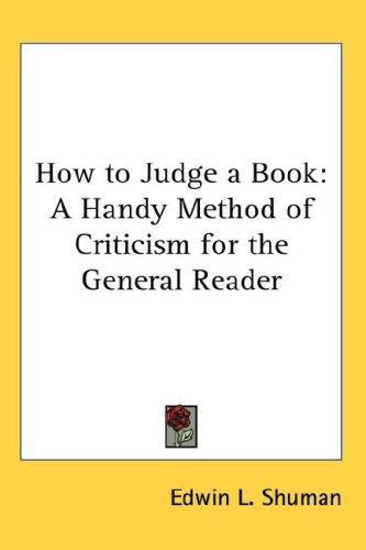 Download How to Judge a Book