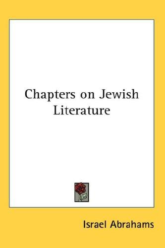 Download Chapters on Jewish Literature