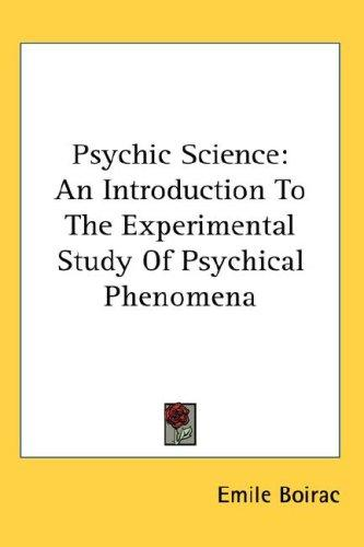 Download Psychic Science