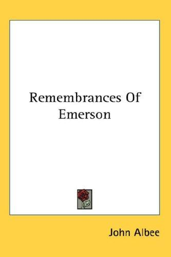 Download Remembrances Of Emerson