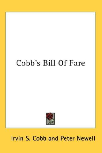 Cobb's Bill Of Fare