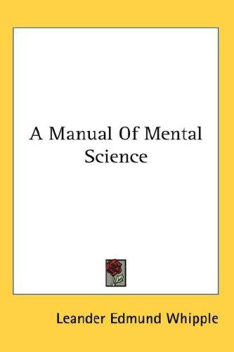 Download A Manual Of Mental Science