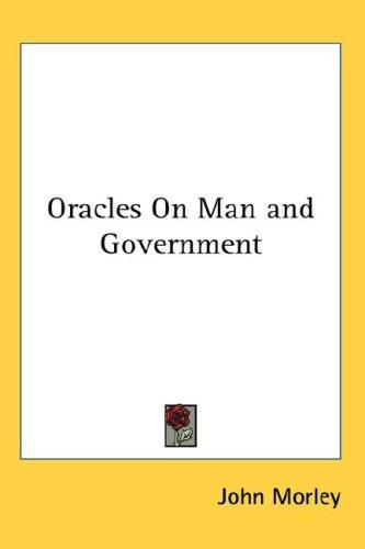 Download Oracles On Man and Government