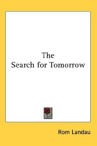 The Search for Tomorrow (Open Library)