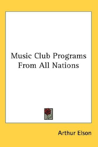 Download Music Club Programs From All Nations