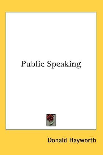 Download Public Speaking