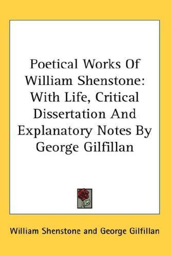 Poetical Works Of William Shenstone