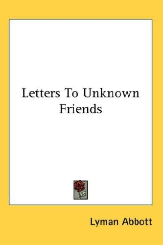 Letters To Unknown Friends