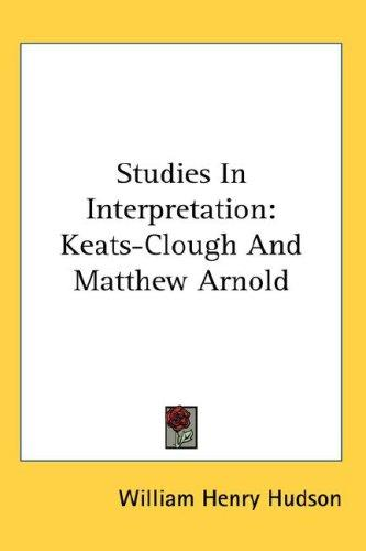 Studies In Interpretation