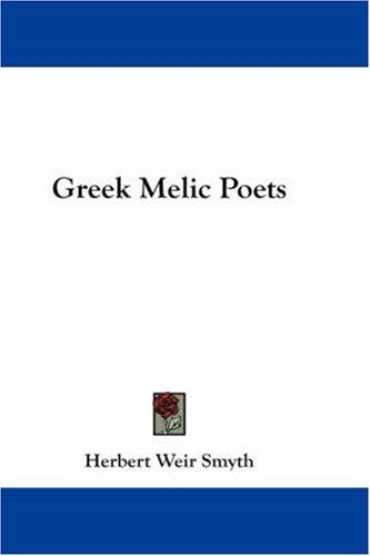 Download Greek Melic Poets