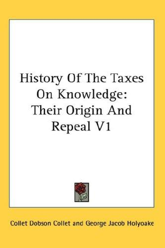 History Of The Taxes On Knowledge