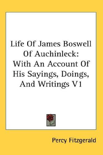 Life Of James Boswell Of Auchinleck
