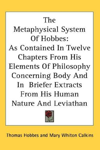 Download The Metaphysical System Of Hobbes