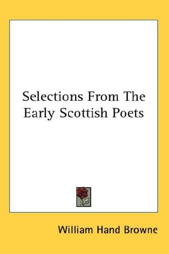 Download Selections From The Early Scottish Poets