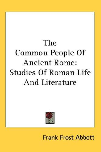 Download The Common People Of Ancient Rome