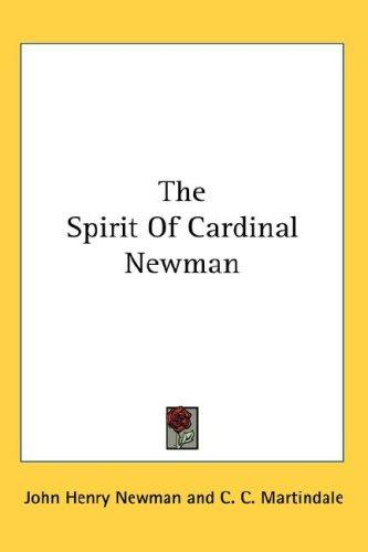 Download The Spirit Of Cardinal Newman