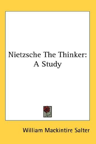 Nietzsche The Thinker