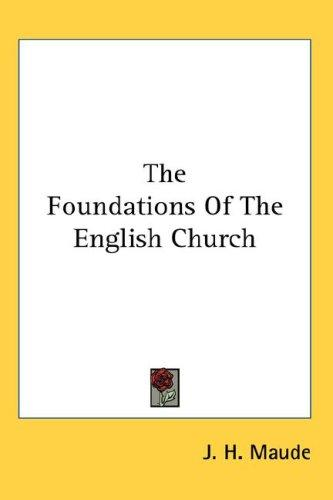 Download The Foundations Of The English Church