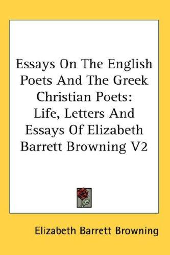 Download Essays On The English Poets And The Greek Christian Poets