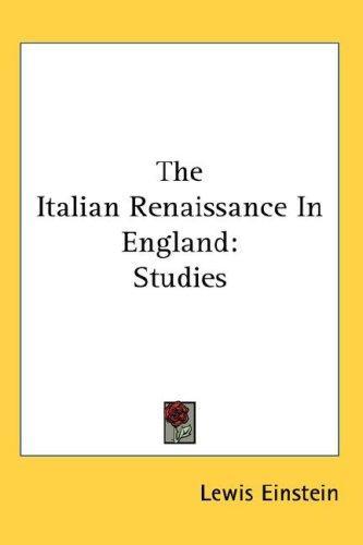 The Italian Renaissance In England