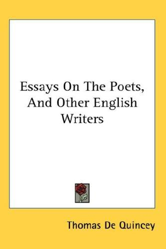 Download Essays On The Poets, And Other English Writers