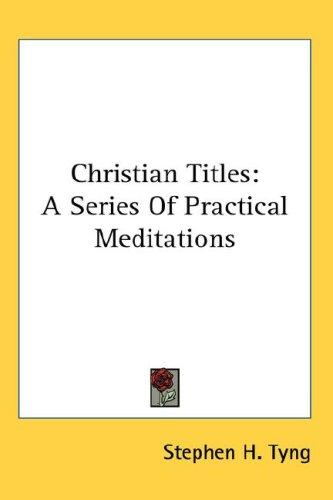 Download Christian Titles