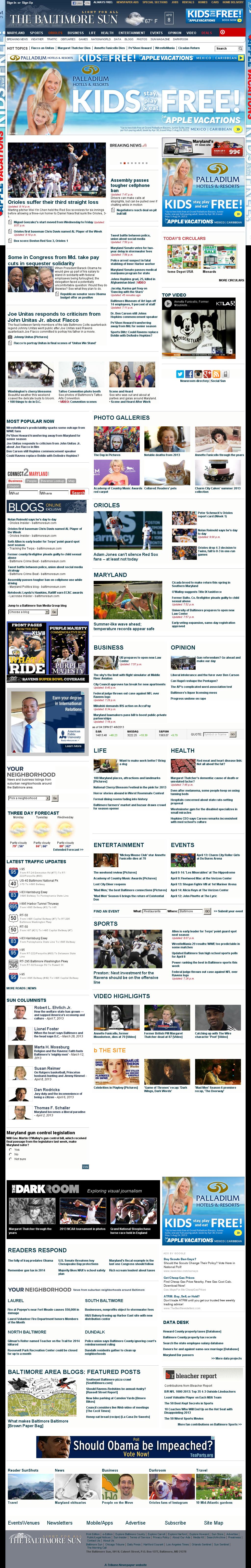 The Baltimore Sun at Tuesday April 9, 2013, 2:01 a.m. UTC