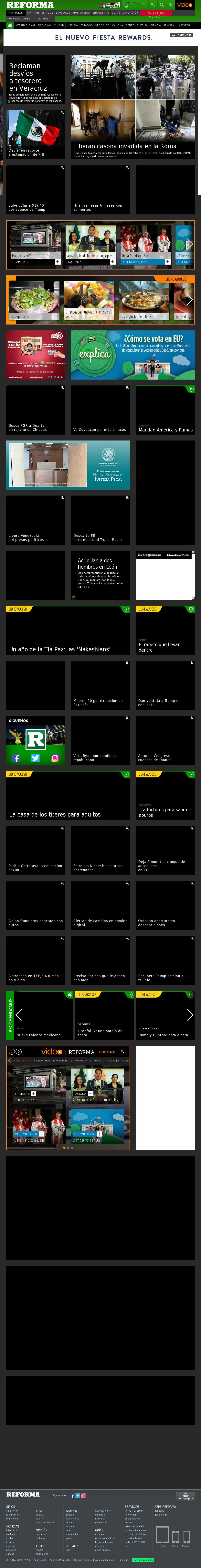 Reforma.com at Tuesday Nov. 1, 2016, 6:15 p.m. UTC