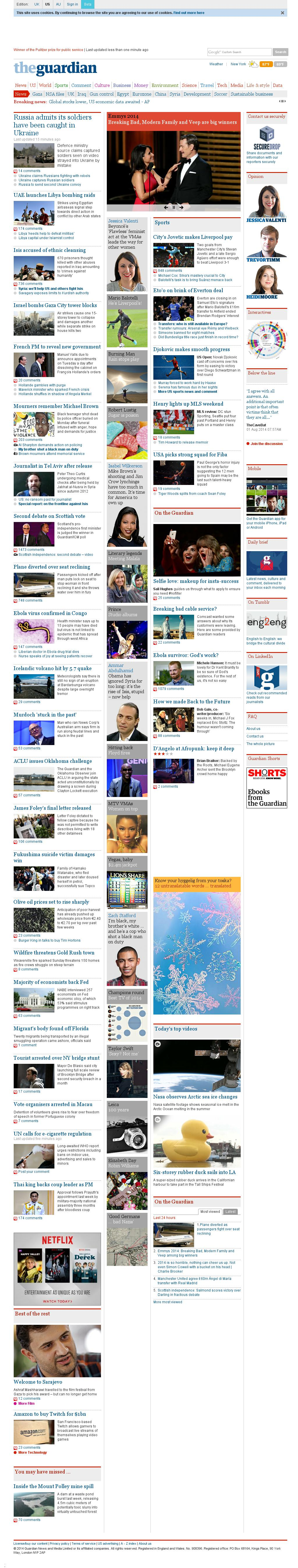 The Guardian at Tuesday Aug. 26, 2014, 10:07 a.m. UTC