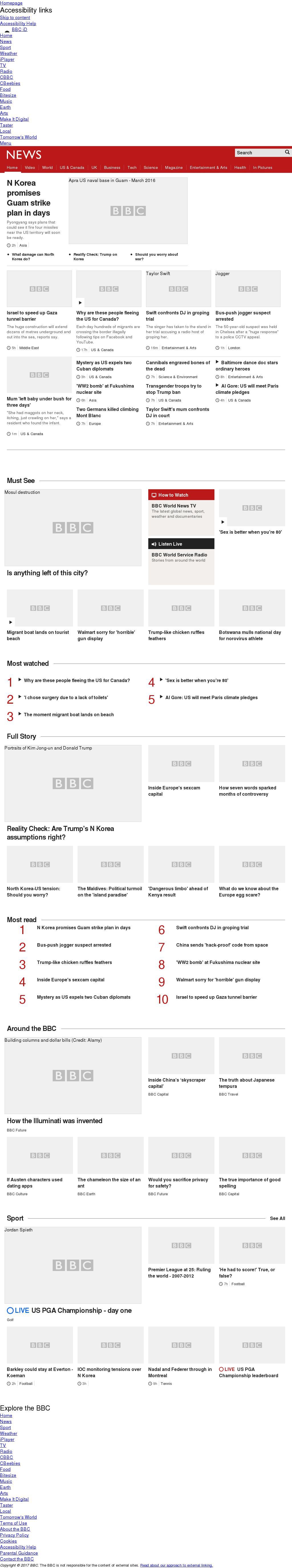 BBC at Thursday Aug. 10, 2017, 4:01 p.m. UTC