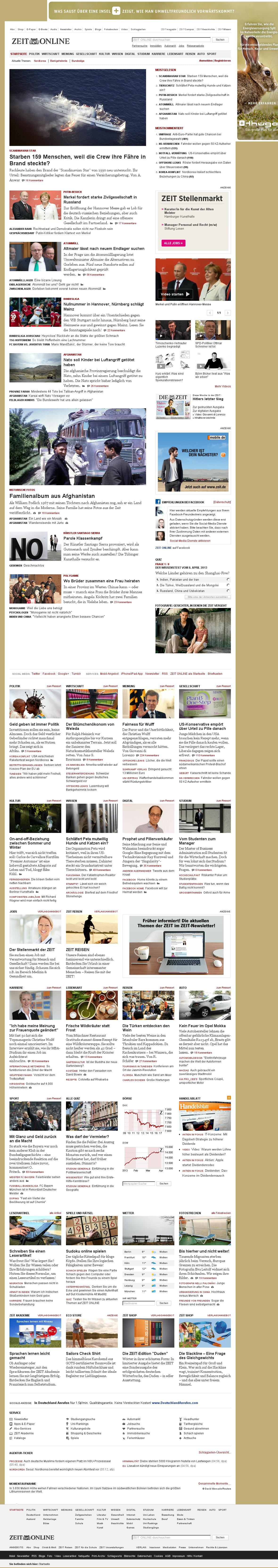 Zeit Online at Monday April 8, 2013, 4:26 a.m. UTC