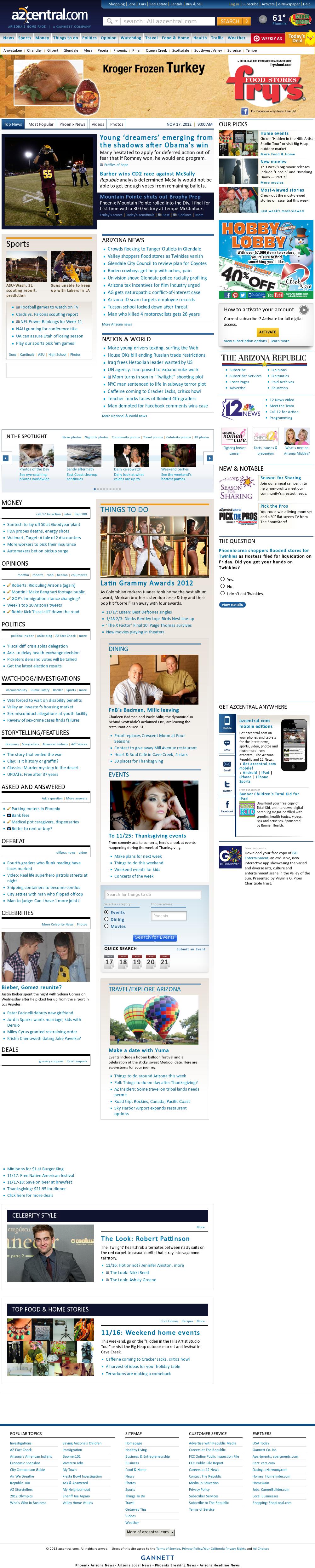 azcentral.com at Saturday Nov. 17, 2012, 9 a.m. UTC