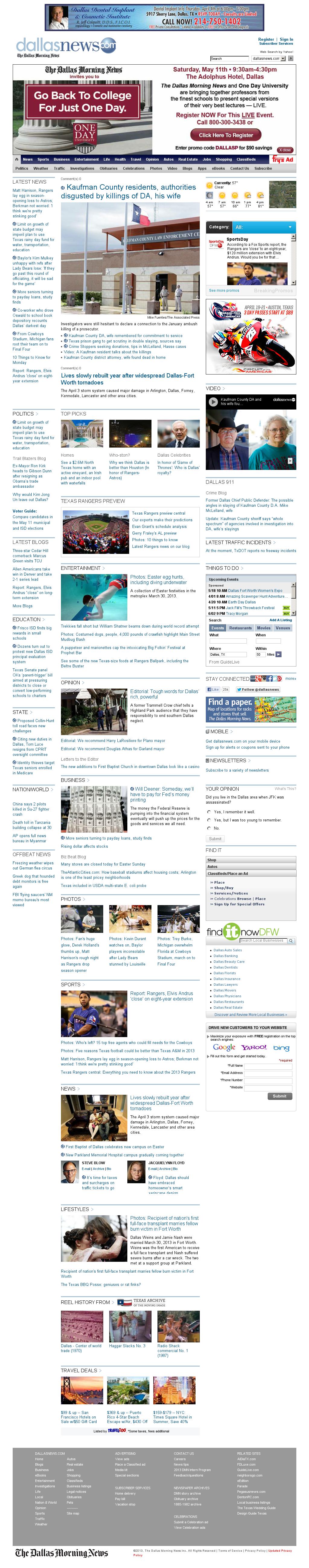 dallasnews.com at Monday April 1, 2013, 8:04 a.m. UTC