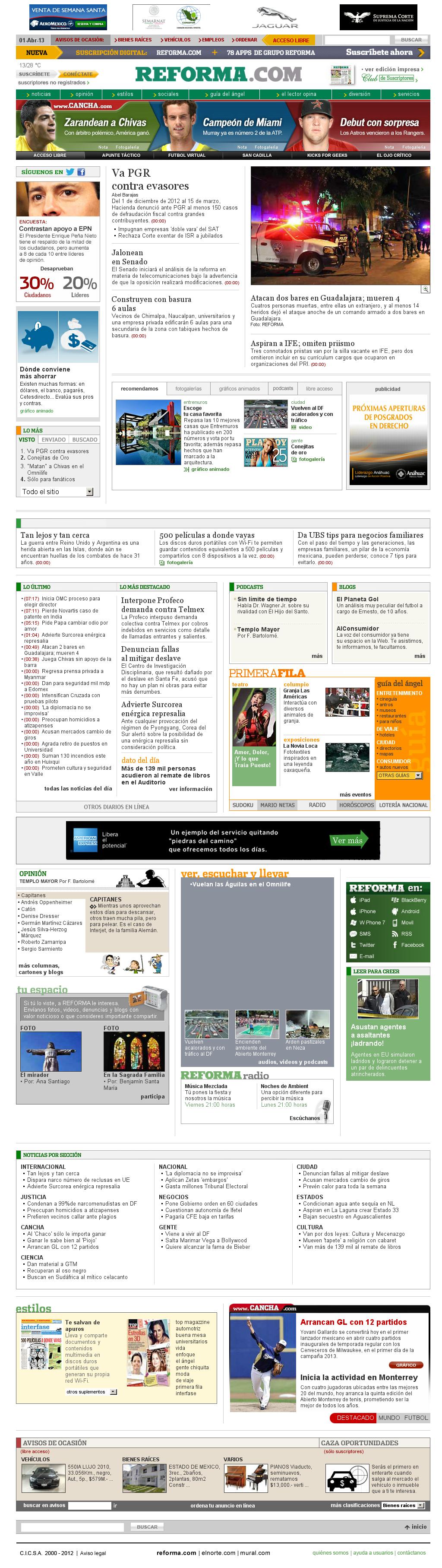 Reforma.com at Monday April 1, 2013, 2:18 p.m. UTC