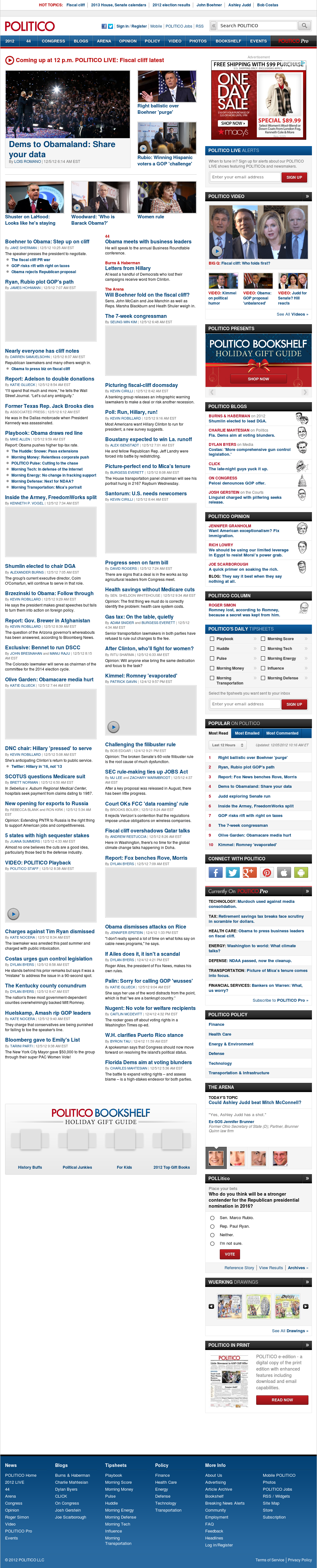 Politico at Wednesday Dec. 5, 2012, 3:36 p.m. UTC