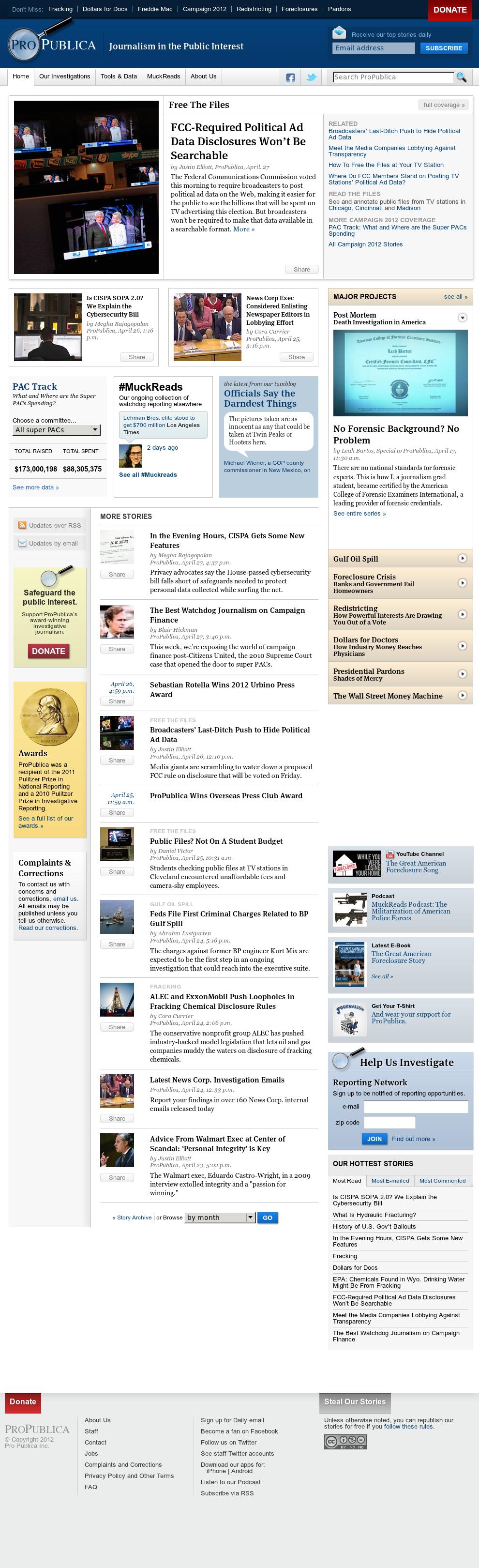 ProPublica at Sunday April 29, 2012, 11:21 p.m. UTC