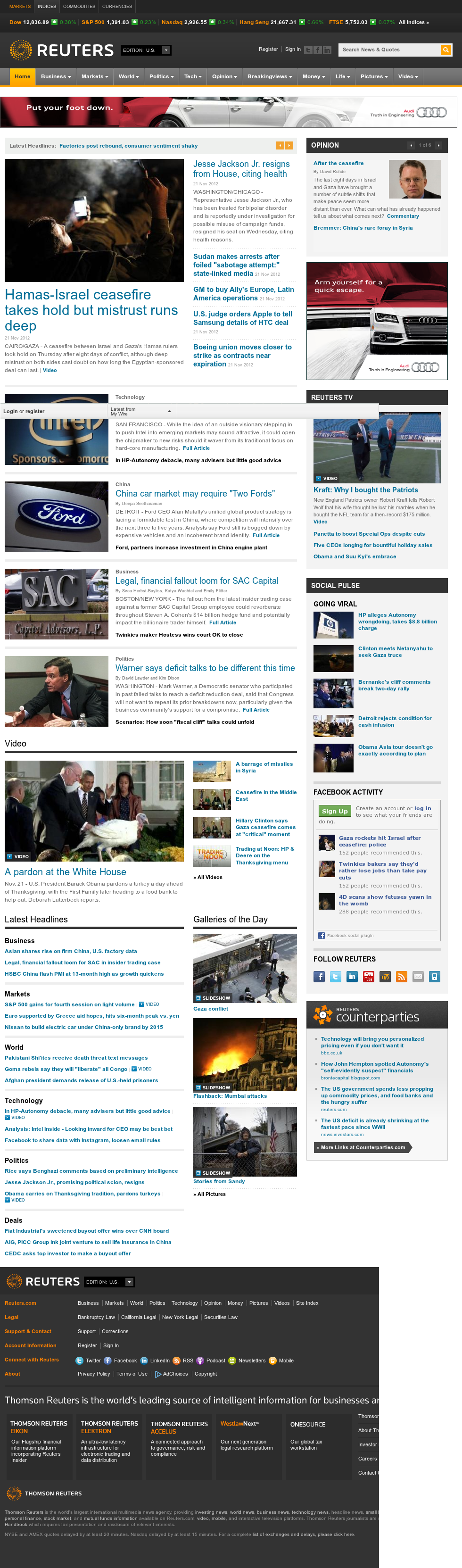 Reuters at Thursday Nov. 22, 2012, 5:31 a.m. UTC