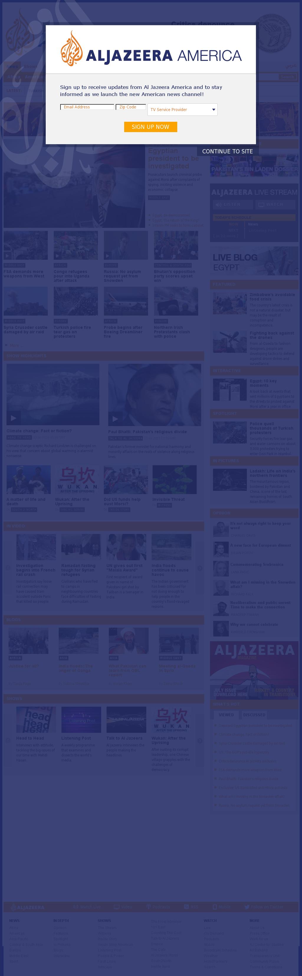 Al Jazeera (English) at Saturday July 13, 2013, 7:09 p.m. UTC