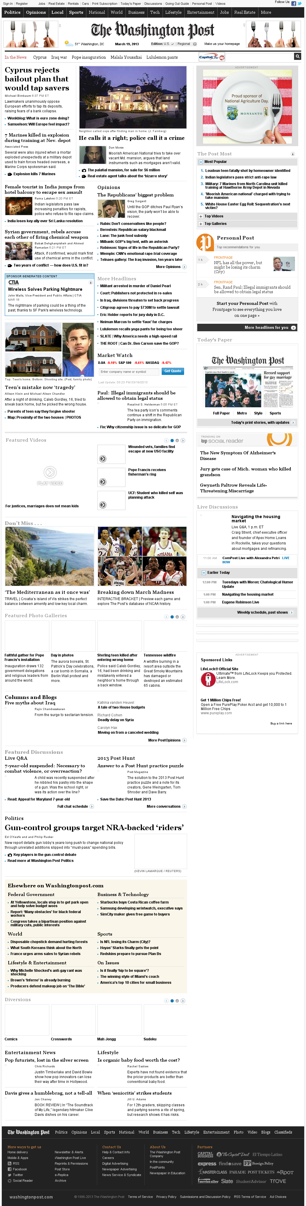 The Washington Post at Tuesday March 19, 2013, 7:29 p.m. UTC