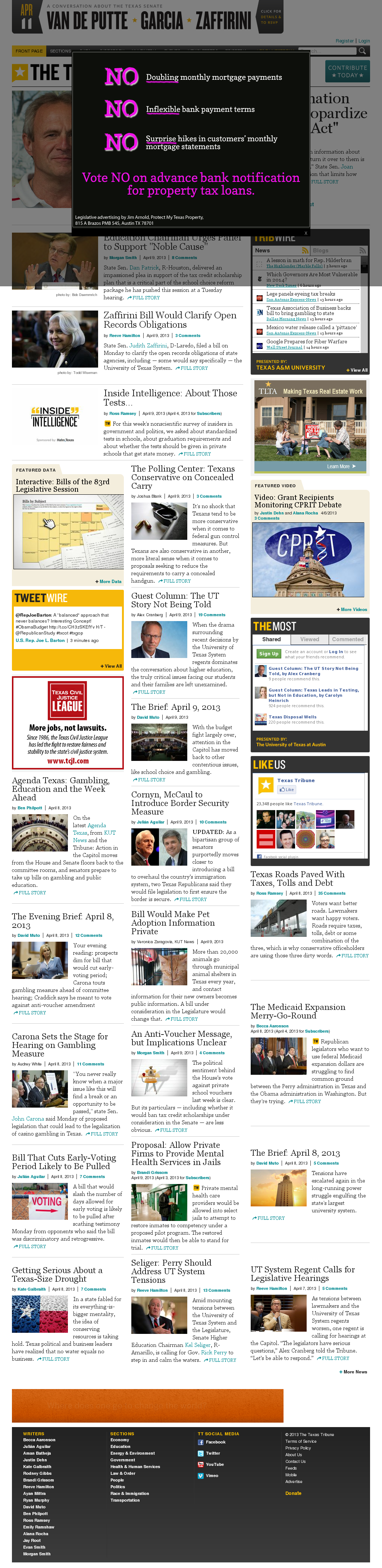 The Texas Tribune at Tuesday April 9, 2013, 6:22 p.m. UTC