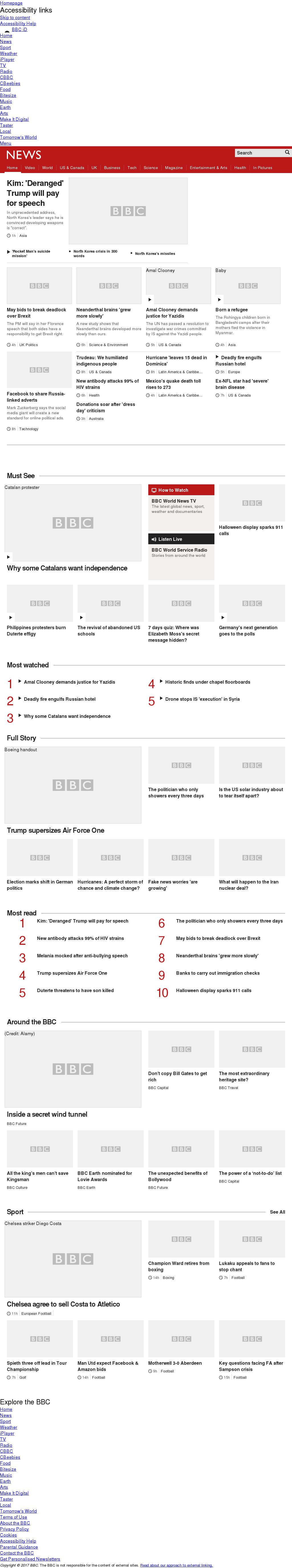 BBC at Friday Sept. 22, 2017, 6 a.m. UTC