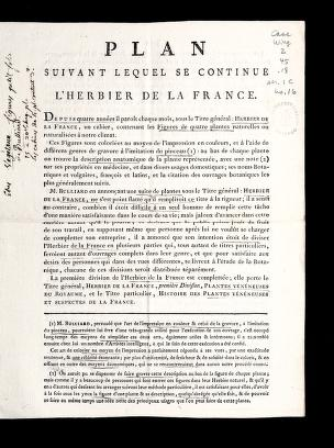 Cover of: Plan suivant lequel se continue l'Herbier de la France | Bulliard, Pierre