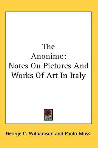 The Anonimo by George C. Williamson