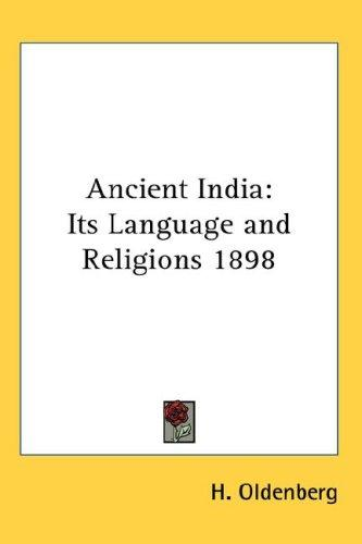 Ancient India by H. Oldenberg